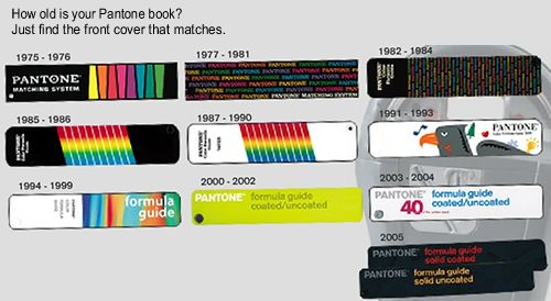 how old is your Pantone book?